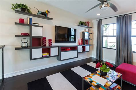 beautiful living room shelves