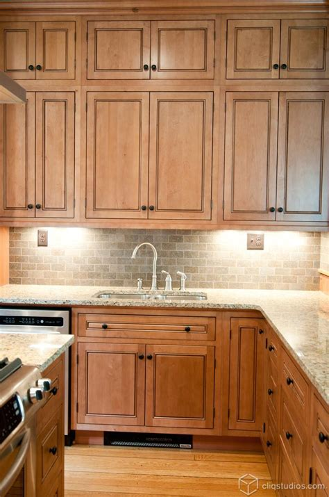 Maple Kitchen Ideas by Adding Small Uppers On Top Of Your Standard Uppers To