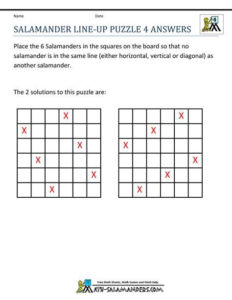 free math puzzles 4th grade