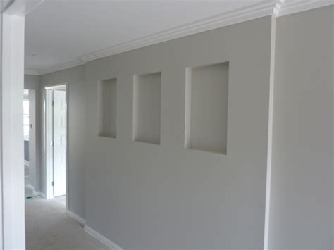 dulux grey pebble the cutouts in the walls feel