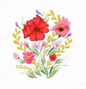 Aquarell Blumen Malen : malen aquarell blumen stockvektor ngocdai86 88828376 ~ Frokenaadalensverden.com Haus und Dekorationen