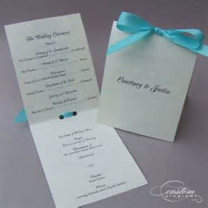 diy wedding program templates booklet programs