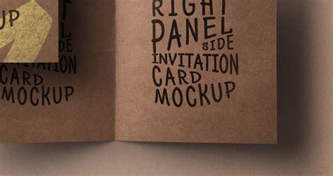 psd kraft paper invitation card psd mock  templates