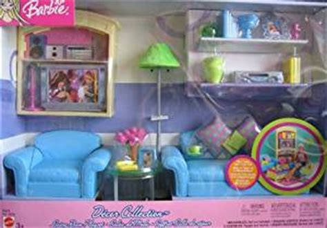 amazon com barbie decor collection living room playset