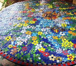 Glass mosaic tile, glass mosaic table top glass mosaic