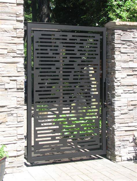 modern metal fence design gate designs modern gate and fence designs