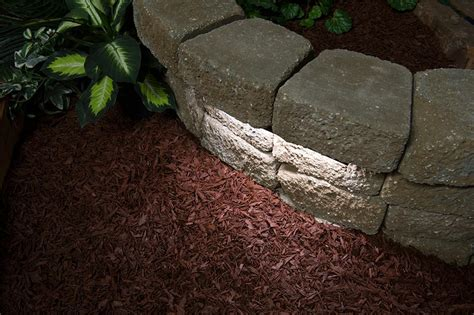 led retaining wall lights led hardscape lighting deck step and retaining wall