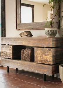 Meuble Tele En Bois : meuble t l en bois de grange deco rustic furniture ~ Melissatoandfro.com Idées de Décoration