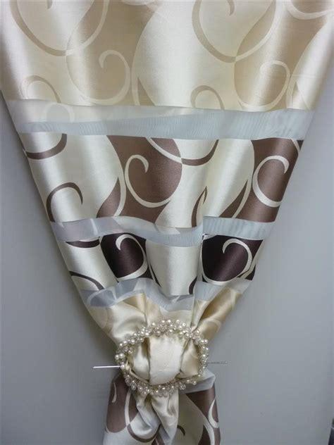Vorhänge Braun Beige by Deko Stoff Gardine Vorhang Querstreifen Ornamente Beige