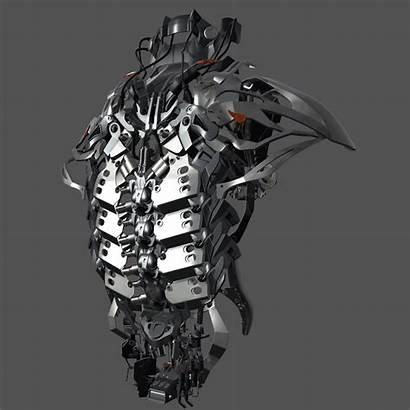 Exoskeleton Robot Suit Armor Mechanical Futuristic Iron