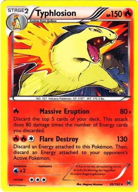 typhlosion deck list breakthrough typhlosion 20 breakthrough x y single card on