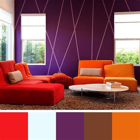 sofa vermelho parede verde paletas de cores para sala arquidicas
