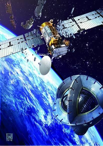 Magnetic Satellite Space Tug Esa Satellites Dead