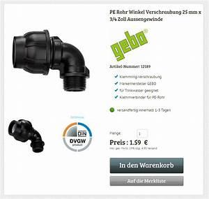 Pe Rohr 3 4 Zoll : gebo pe rohr winkel 25 mm auf 3 4 zoll ag verschraubung ~ A.2002-acura-tl-radio.info Haus und Dekorationen