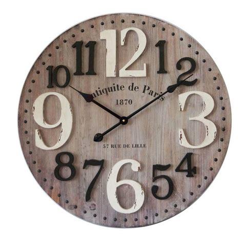 horloge murale en bois diam 28 images horloge murale ronde en ciment gris et m 233 tal