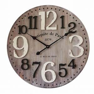 Horloge Murale Bois : horloge murale en bois diam tre 60 cm antiquit de paris dya ~ Teatrodelosmanantiales.com Idées de Décoration