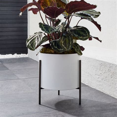 dundee  white planter  stand reviews crate