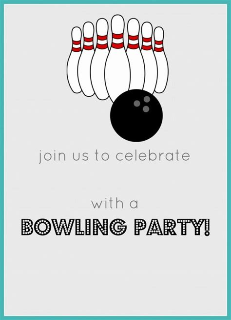 bowling birthday party  invitation party printables