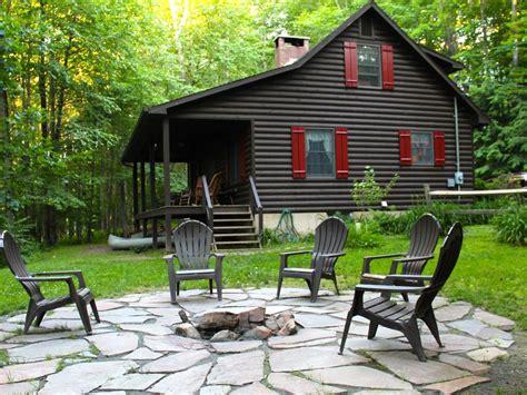 cabins in poconos charming delaware river front cabin vacation rental