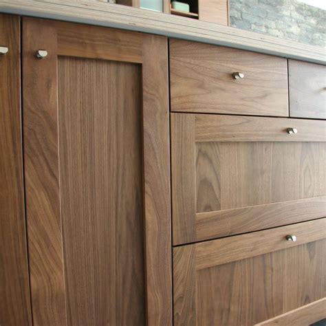 natural walnut kitchen cabinets detail shot of semihandmade walnut shaker ikea kitchen