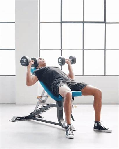 Bench Dumbbell Chest Press Incline Exercises Gymshark