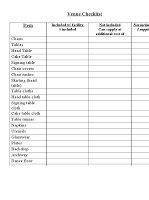 printable  downloadable wedding venue checklist