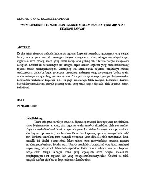 JURNAL EKONOMI KOPERASI | Rizky Larasati - Academia.edu