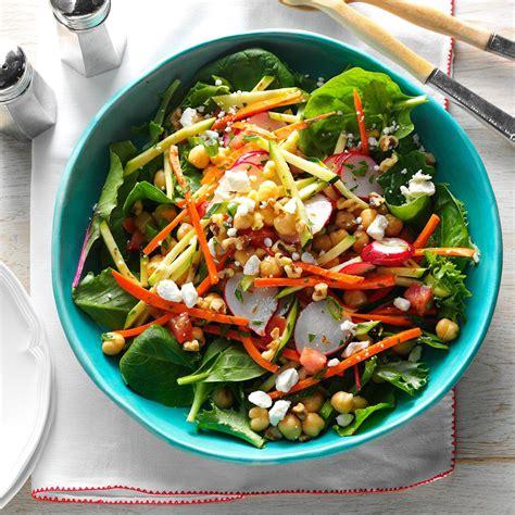 garden salad recipe garden chickpea salad recipe taste of home
