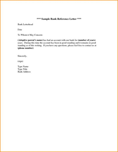 Reference Template Reference Letter Sle Doc Writing Lab