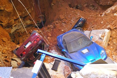 video national corvette museum releases video of recovery