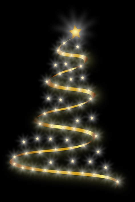 modern christmas tree with lights clip art at clker com
