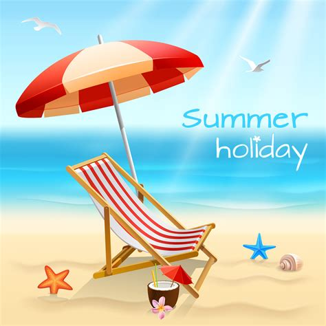 Summer holidays background poster - Download Free Vectors ...