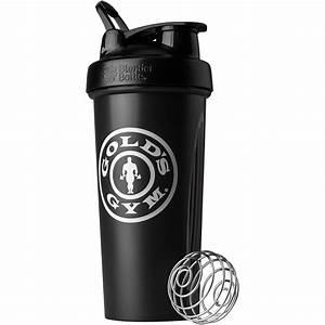 Blender Bottle Gold U0026 39 S Gym Classic 28 Oz  Shaker Bottle With Loop Top