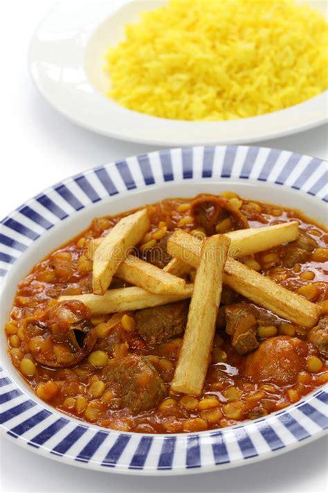 cuisine iranienne gheimeh de khoresh cuisine iranienne photo libre de