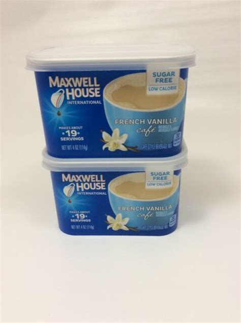 All you need is some heavy cream, a bit of sweetner, unsalted butter and of course, vanilla bean. 2x Maxwell House FRENCH VANILLA SUGAR FREE Cafe Coffee Creamer KETO LOW CALORIE for sale online