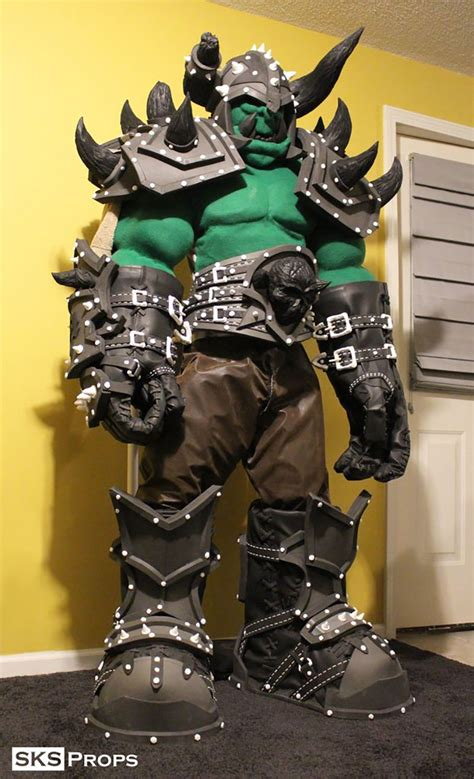 life size world  warcraft orc armor adafruit