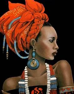 Black Women Art! Beautiful black woman in ethnic/African ...