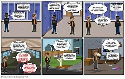 Comic Strip Health Slide Storyboard