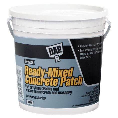dap floor patch and leveler dap 1 gal gray ready mixed concrete patch 31090 the
