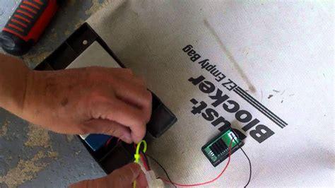 Installing A Digital Volt Meter On A Craftsman Key Start