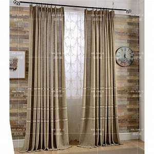 Coffee Patterned Embroidery Burlap Country Bedroom Long