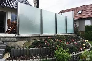windschutz fur die terrasse glasprofi24 With terrasse sichtschutz glas