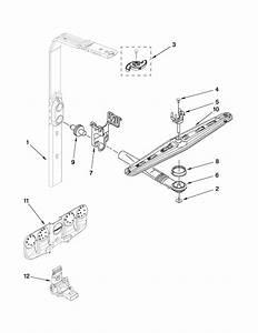 Upper Wash And Rinse Parts Diagram  U0026 Parts List For Model Kuds40fvss4 Kitchenaid