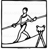 Tightrope Prawny Rigaud Initiation Clipartmag sketch template