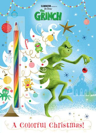 colorful christmas illuminations  grinch