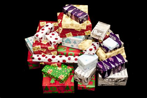 photo of large pile of colorful isolated christmas