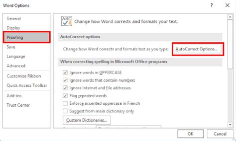Enable/disable Auto Capitalization In Word 2016 & 2013