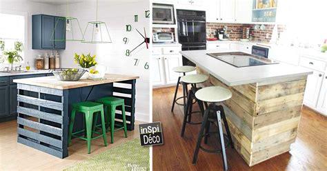 ikea cuisine ilot central fabriquer un ilot de cuisine en palettes voici 15 idées