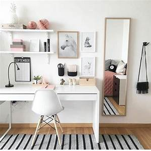 Teen Girl Desk Study Area plus Decor Ideas | Bedroom Goals ...