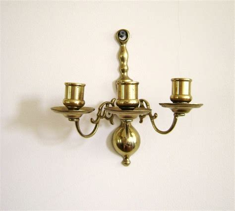 vintage candle wall sconces s a l e vintage candle wall sconce brass three arm